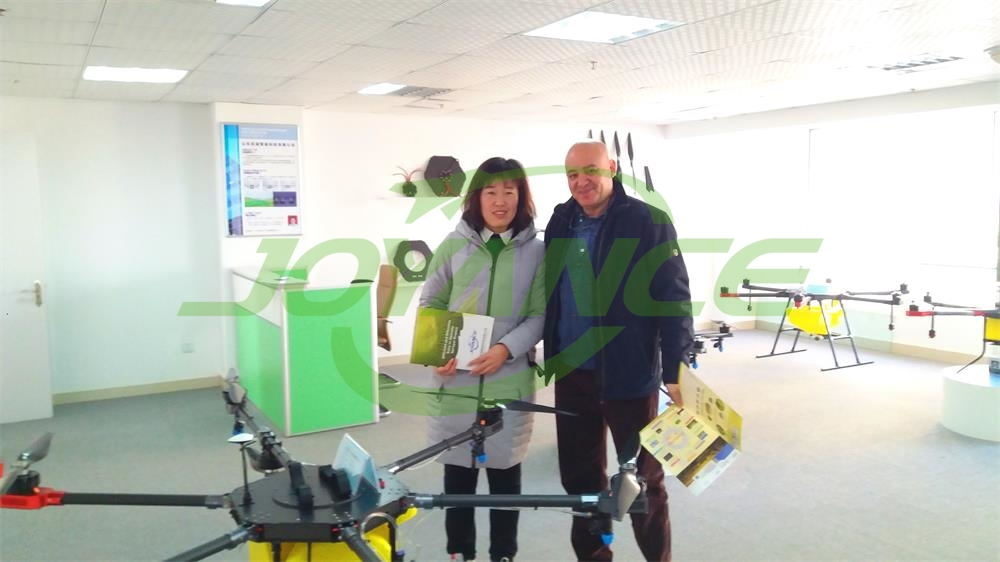 Russia drone sprayer customer visit JoyanceTech
