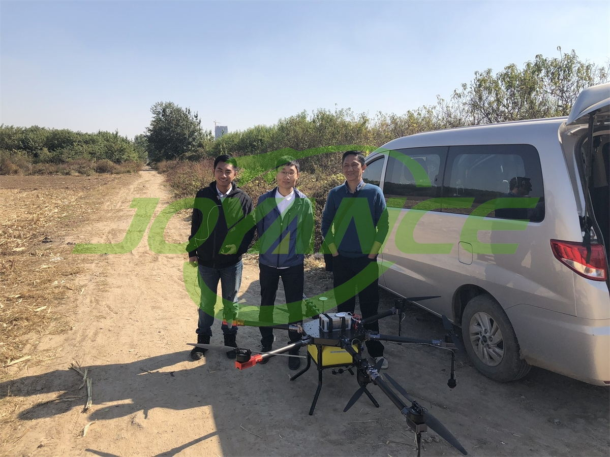 Indonesian customers view Joyance drone spraying demo