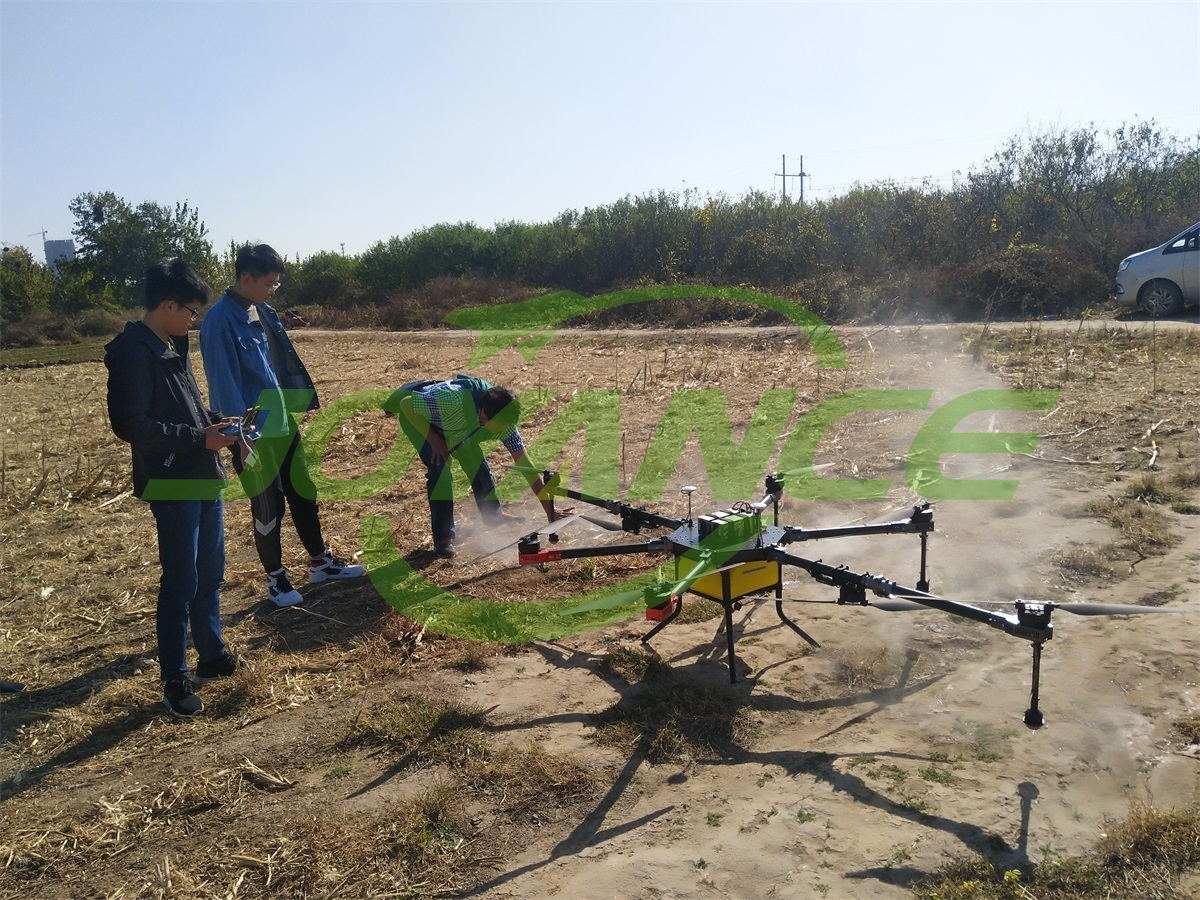View spraying demo,order drone sprayer and get training