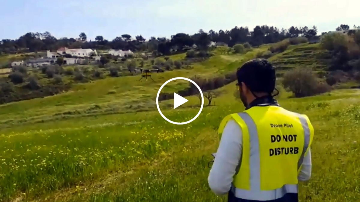 Joyance sprayer drone spraying in Europe