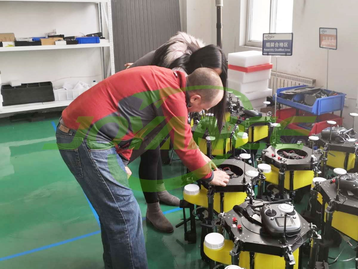 drone customer visits Joyance Tech for cooperation