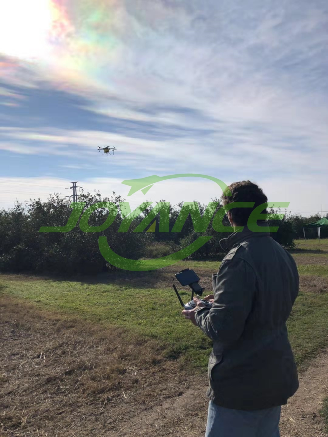 drone spraying demo and promotion