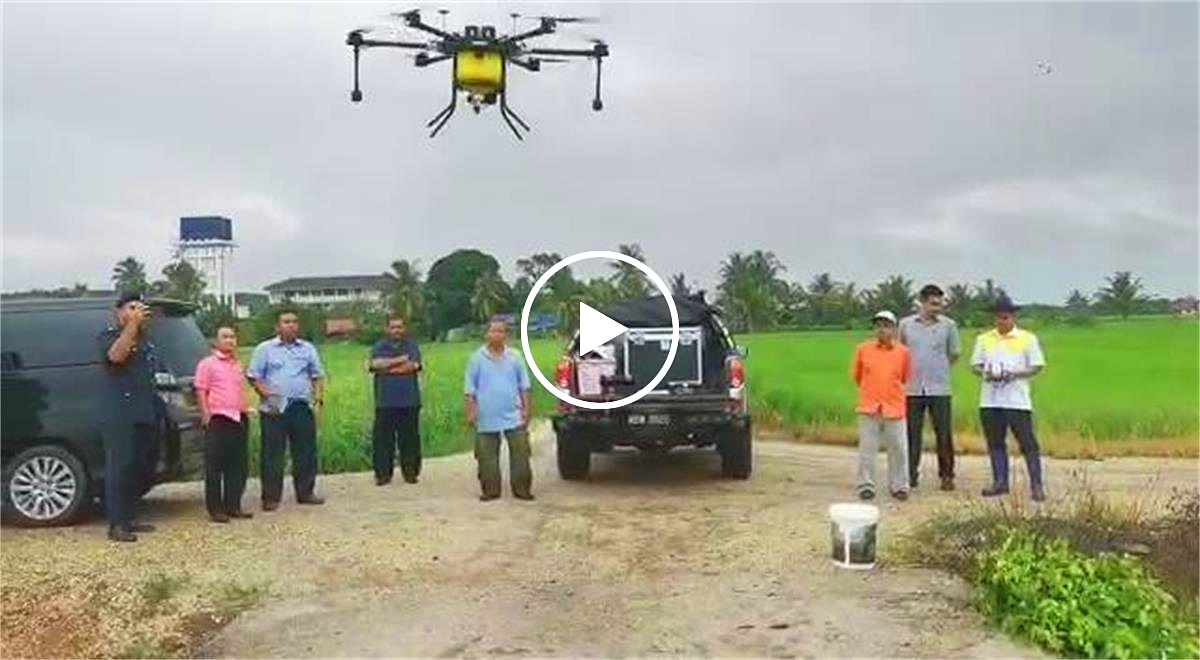 Malaysian customers demo and promote sprayer drones locally